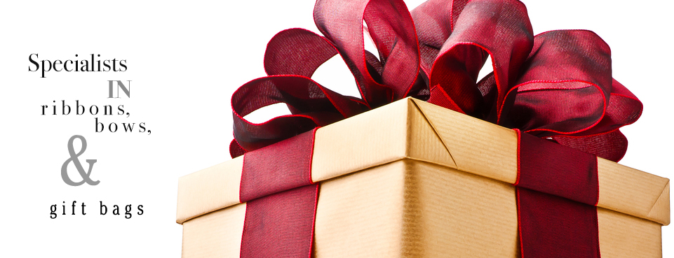 Specialists in ribbons, bows and gift bags